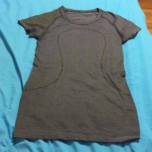 Lululemon Shirt! Black with white stripes!